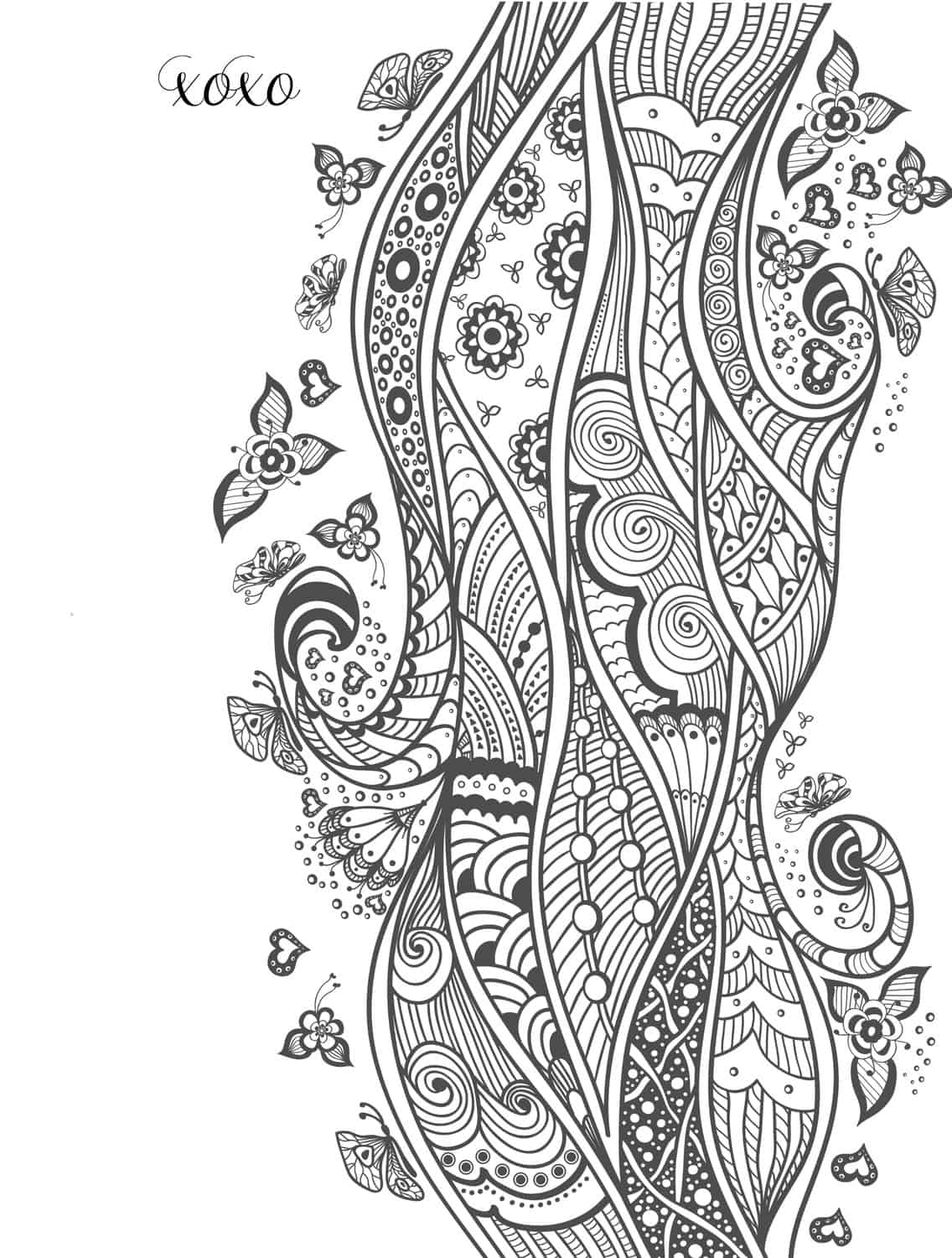 beautiful free valentines coloring pages - photo#3