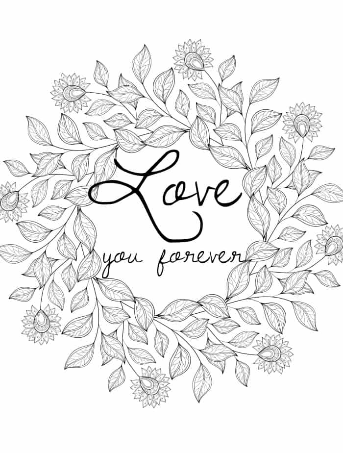 valentine coloring pages printable adult - photo#13
