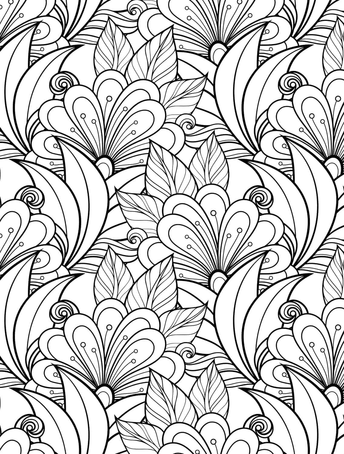 24 More Free Printable Adult Coloring