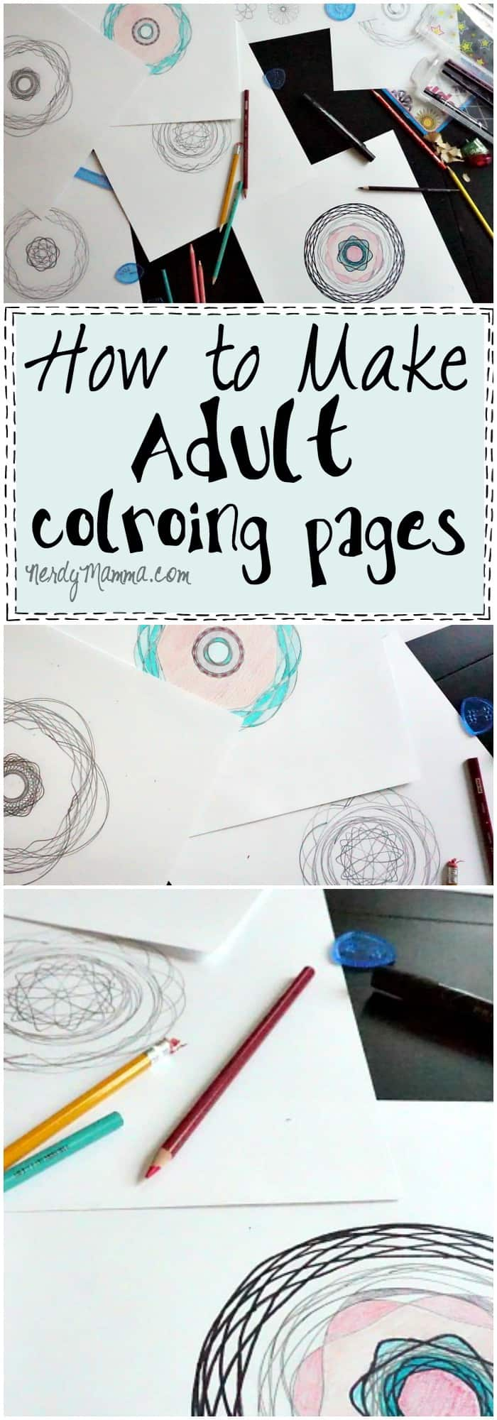 Coloring Pages For Adults Tutorial : How to make adult coloring pages nerdy mamma