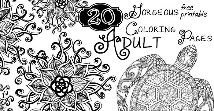 20 Gorgeous Free Printable Adult Coloring Pages - Page 17 of 22