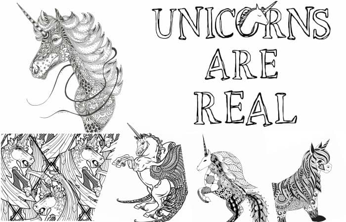 11 Free Printable Unicorn Coloring Pages for Adults - Nerdy Mamma