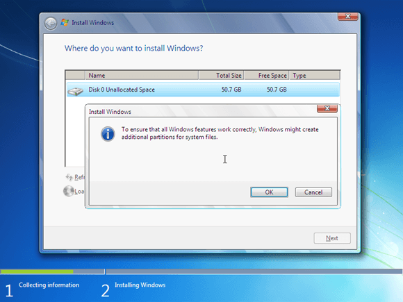 membuat system reserved partition