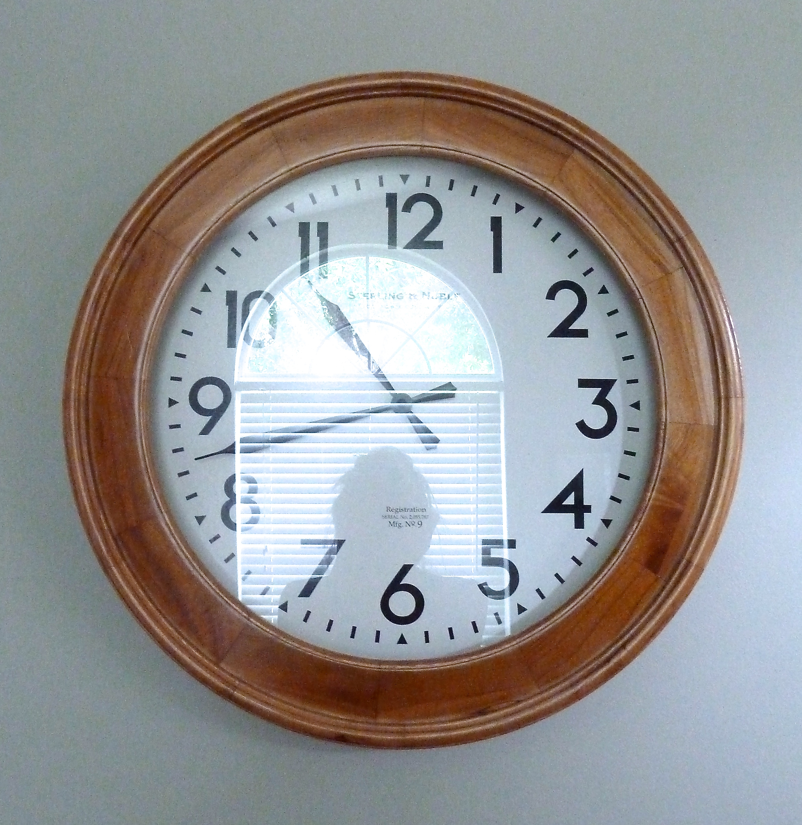 Word Wall Clock Wood Clock The Mace Place