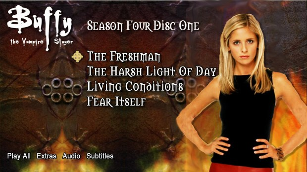 Redesigned Buffy The Vampire Slayer DVD menu
