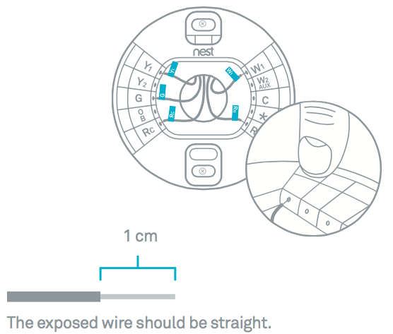 nest thermostat wire diagram for heat only