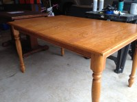 Refinished Oak Farmhouse Table: Before & After | A Nester ...