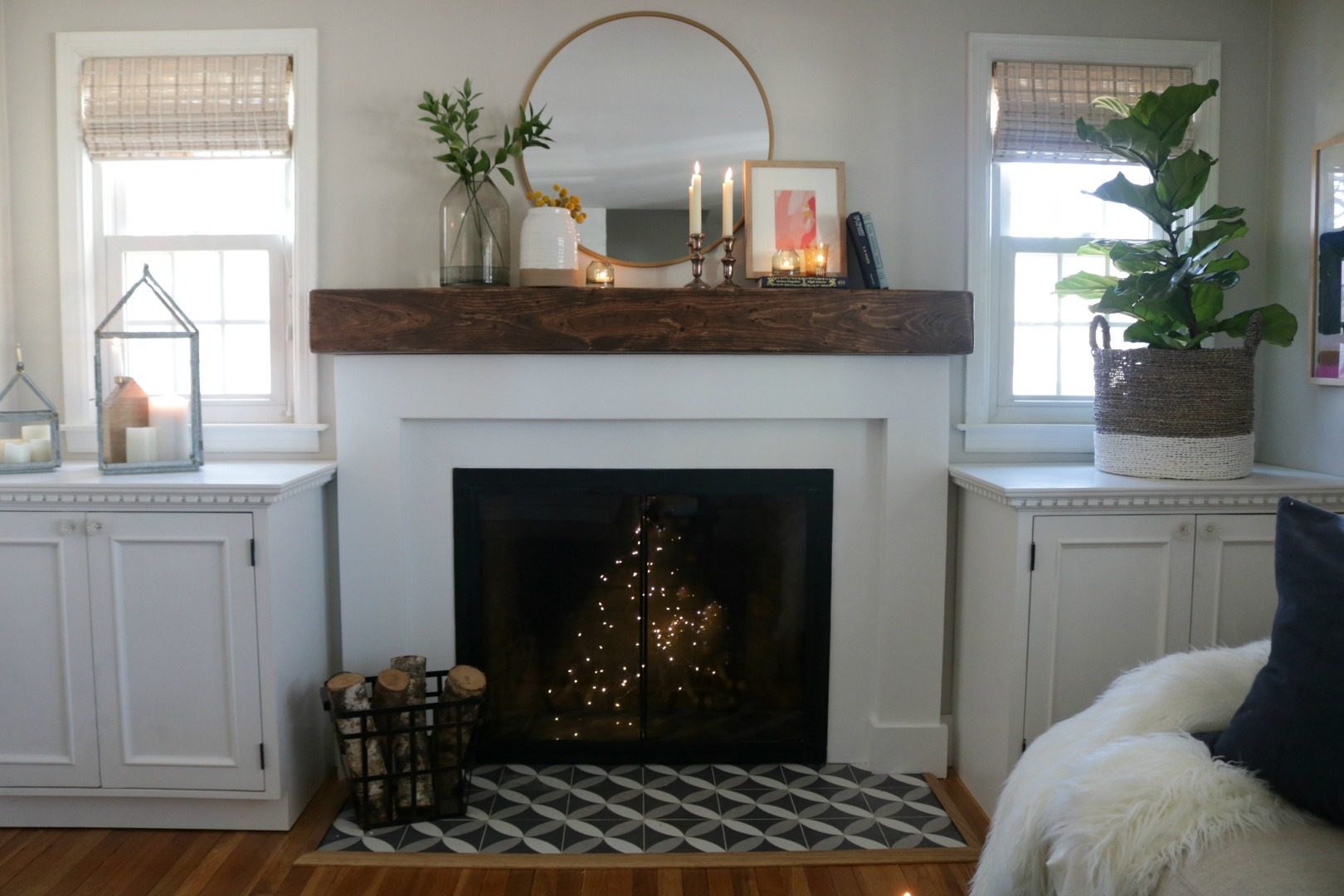 Tile Around Fireplace Ideas Fireplace Makeover And Styled With Decor From Target Nesting