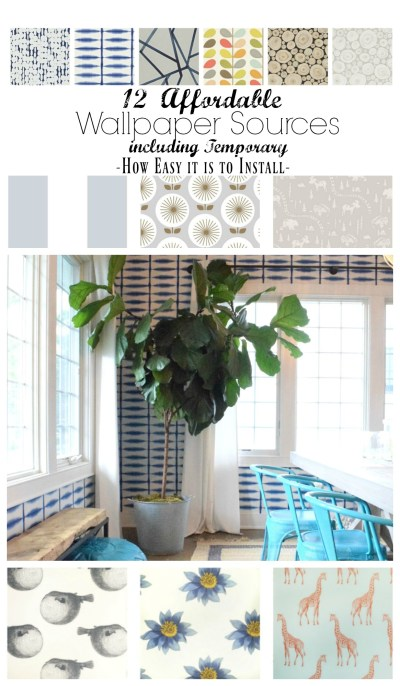 Wallpaper Sources and How EASY it is to Install - Nesting With Grace