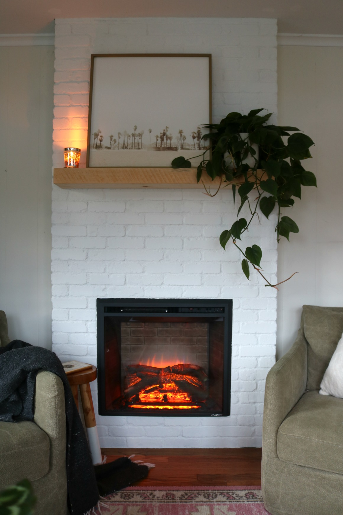 Build Your Own Fireplace Insert Fireplace Reveal Our Electric Brick Fireplace Nesting With Grace