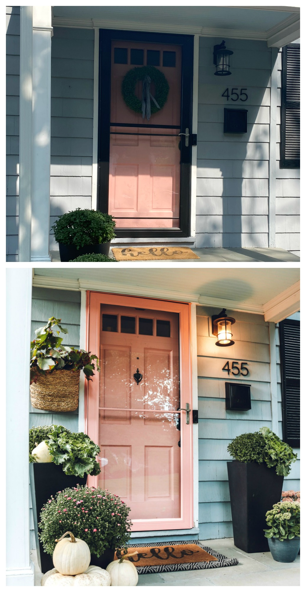 Why You Should Paint Your Storm Door And 4 Ways To Create A Fall Porch Nesting With Grace