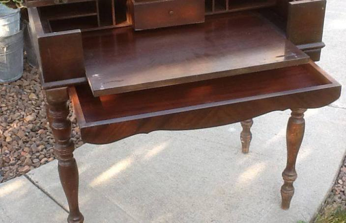 Folding organ desk - entryway table