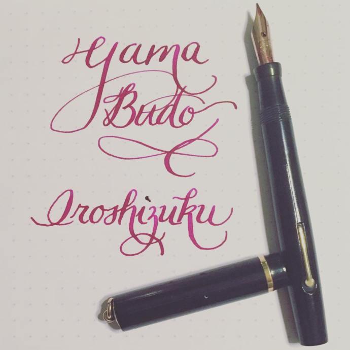 Such a beautiful plum color iroshizuku yamabudo fpink ink moorefountainpenhellip