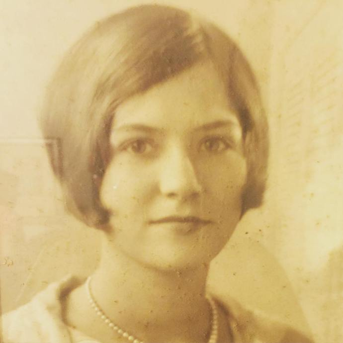 My beautiful great aunt Just noticing that I think alivalerahellip