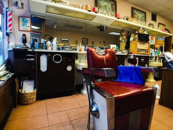 Neighborhood barbershop photojojoiris Photojojo iphoneography iphonelens brookfieldIL brookfield barbershop nofilter