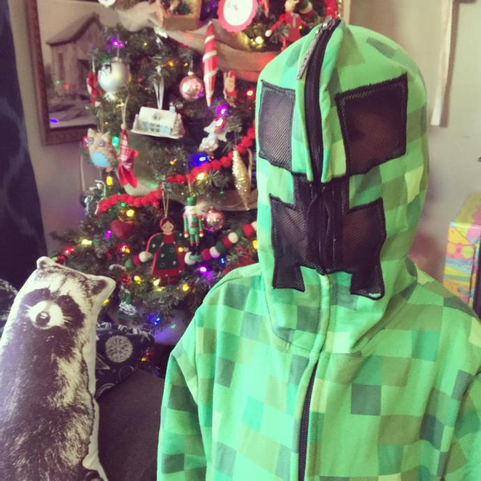 Merry Christmas! creepersgonnacreep minecraft hoodie target lifewithboys Christmas Christmas2015