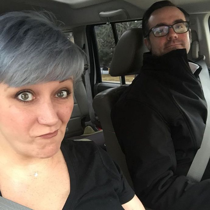 Were fancy grownups adulting morningcommute marriedlife chicago nofilter