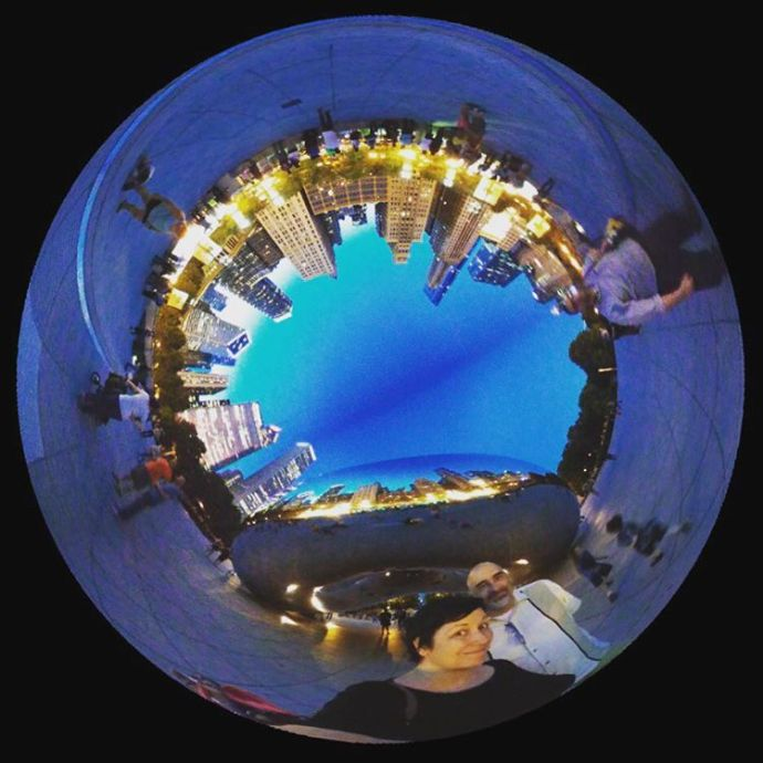 At TheBean lg360cam 360 360camera Chicago milleniumpark