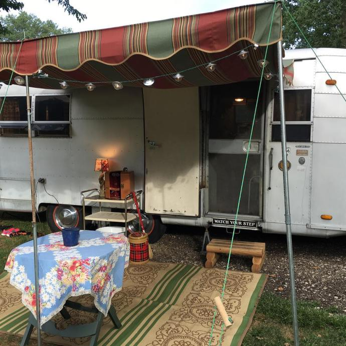 New Blog Post Vintage trailer camping This past weekend wehellip