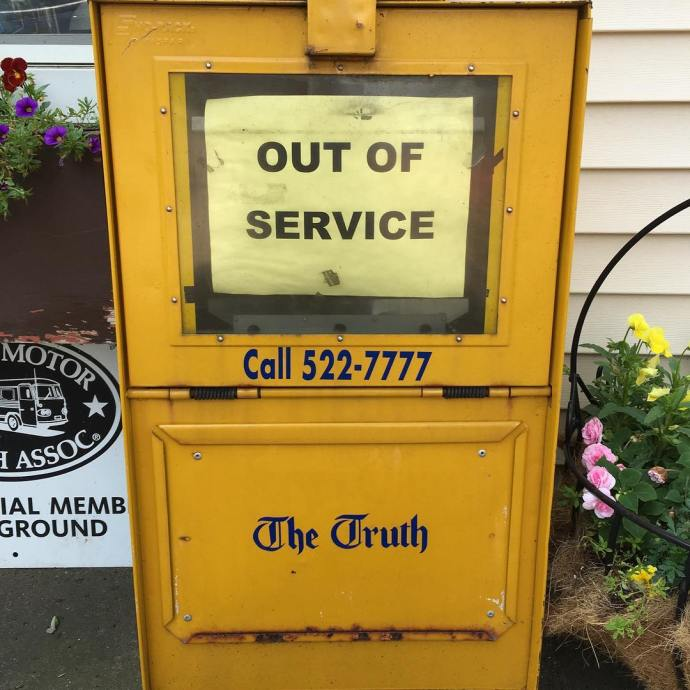 For real truth outofservice newspaper