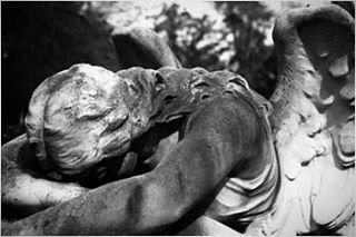 Old angel from Houston film filmphotography blackandwhite cemetery angel mymood