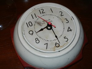 Here's an idea: rock an old clock