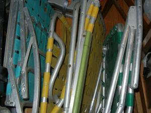 Re-webbing vintage aluminum lawn chairs