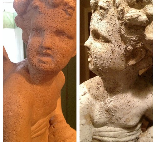 Aging an angel statue with Annie Sloan Chalk Paint