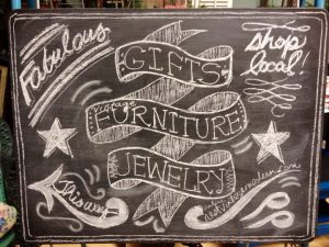 Chalkboard sign one