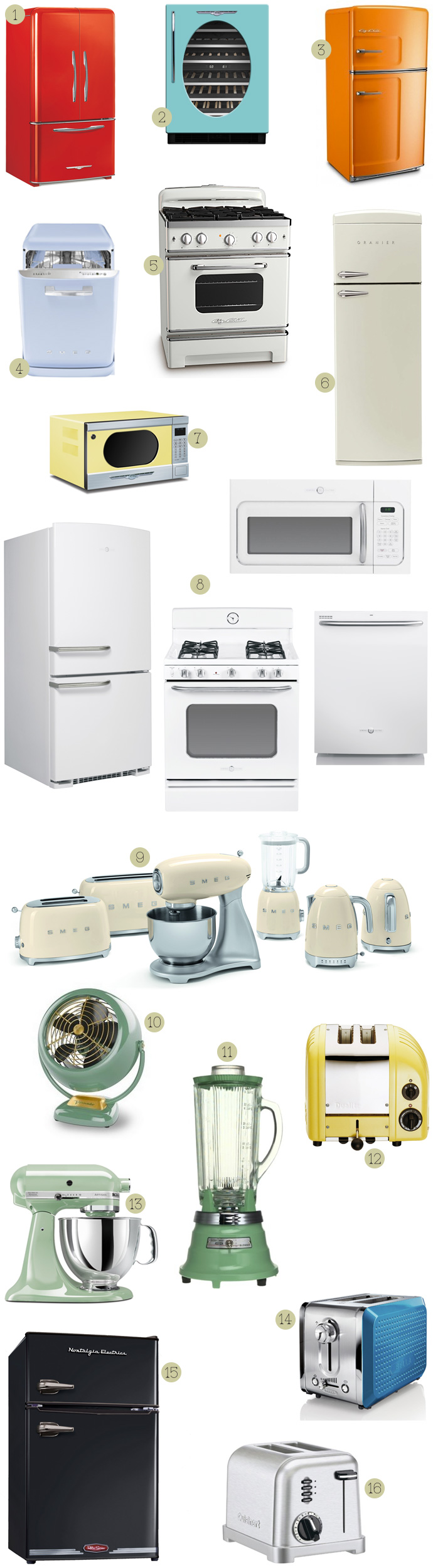 round up of vintage retro styled appliances nest vintage modern