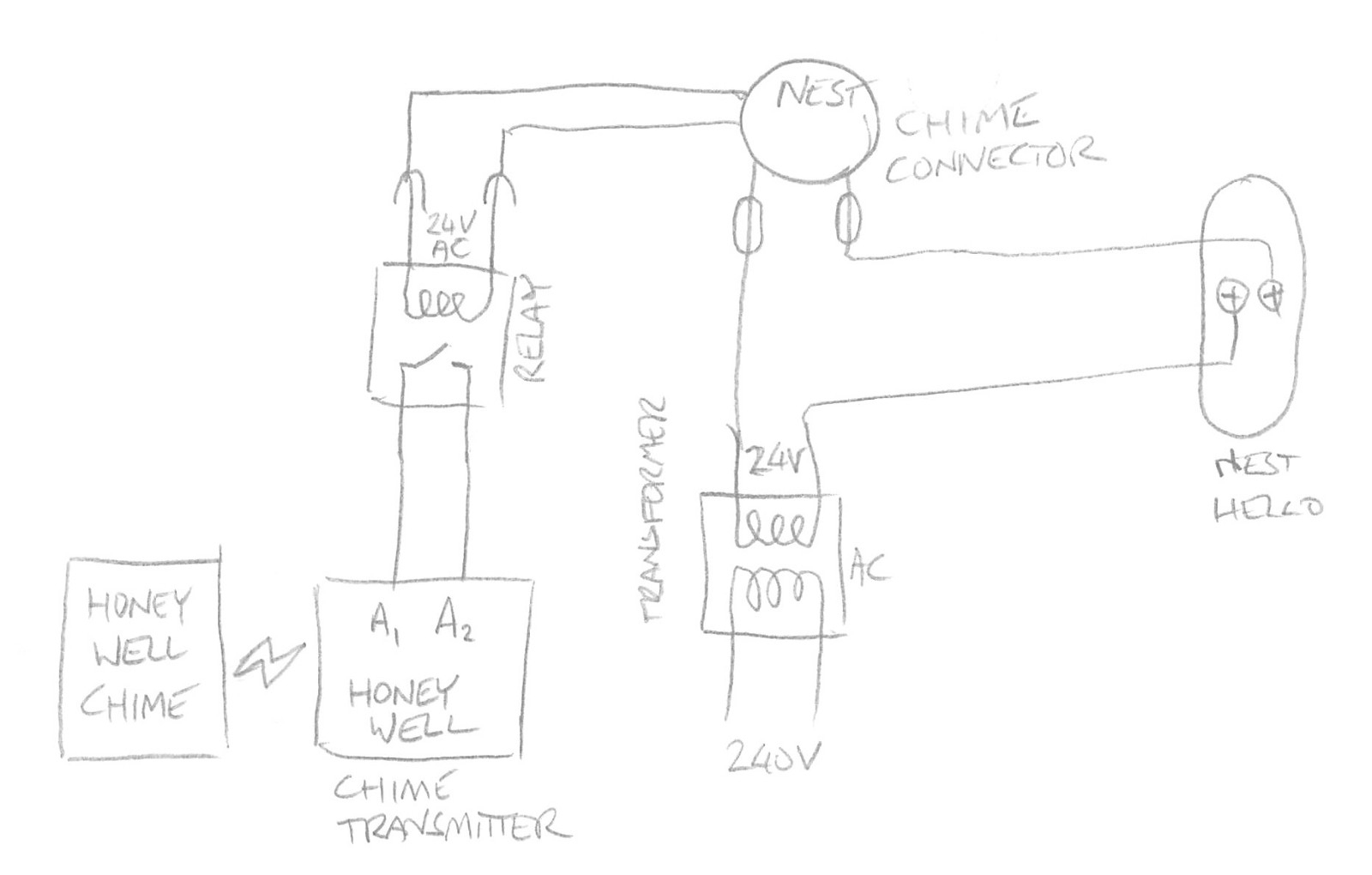 doorbell installation diagram