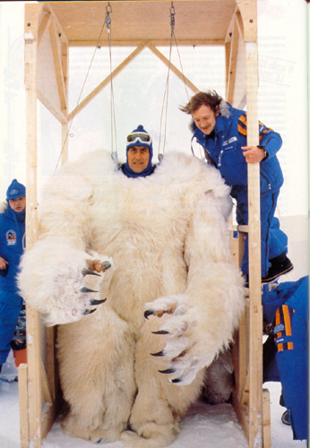 Behind the scenes images of the Wampa from Star Wars