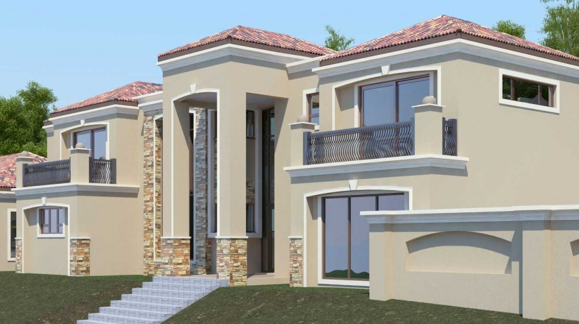 Modern 5 bedroom house plan t477d by