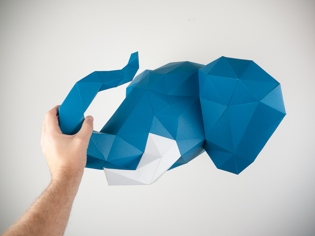 Paper Trophy Papertrophy - Life-size Polygon Shaped Paper Sculpture For