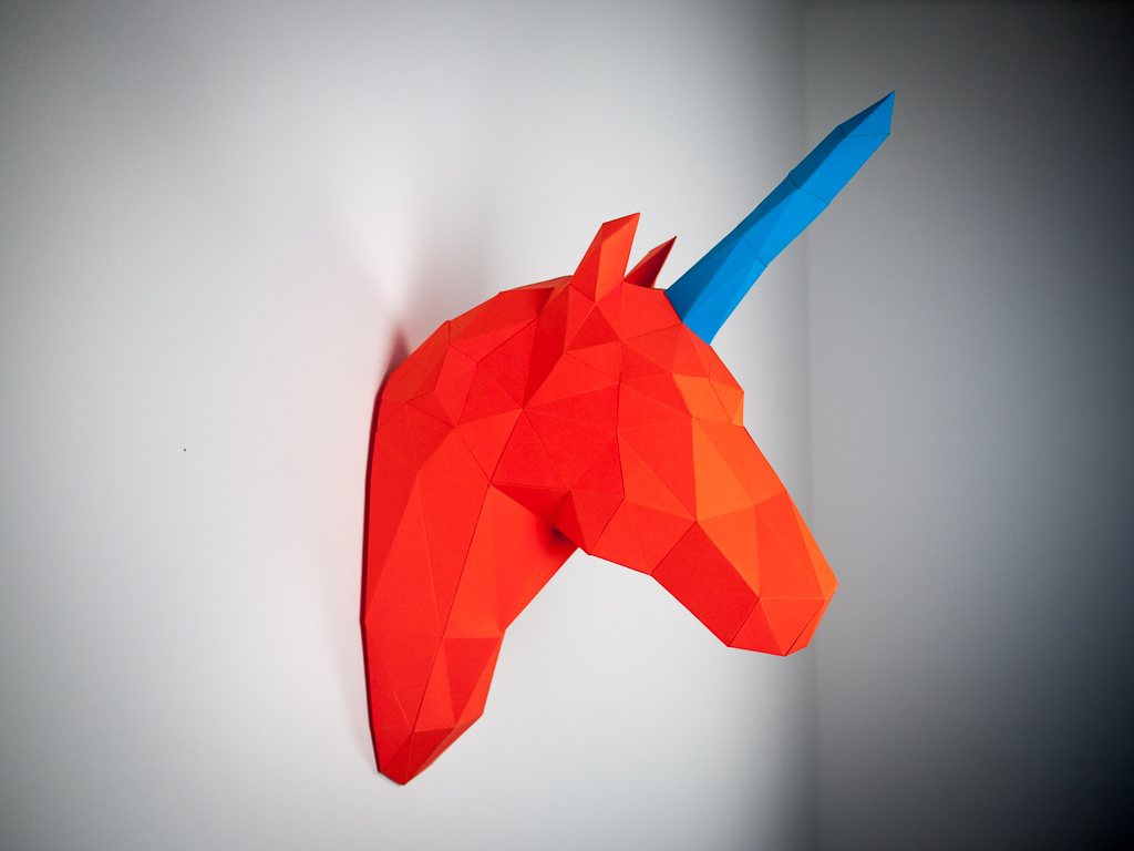 Papertrophy Papertrophy Life Size Polygon Shaped Paper Sculpture For