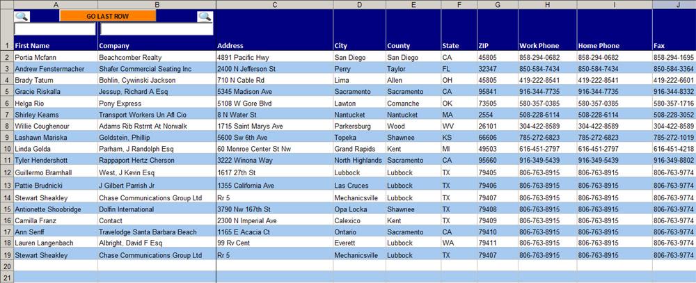 address book exle - Teacheng - address template excel