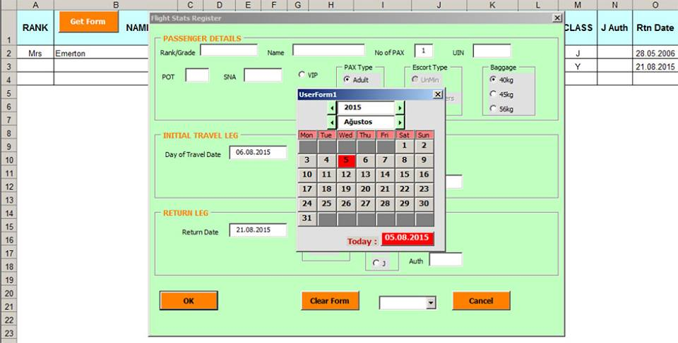 Excel User Form Template Download - One Word Quickstart Guide Book \u2022