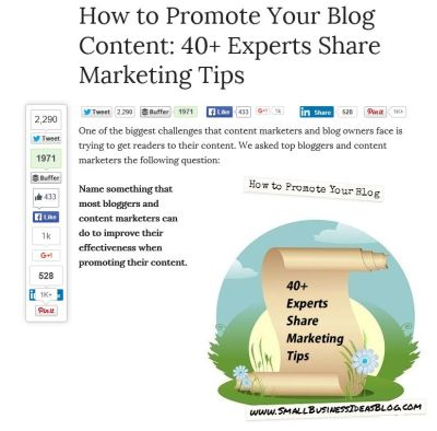 how to make blog share