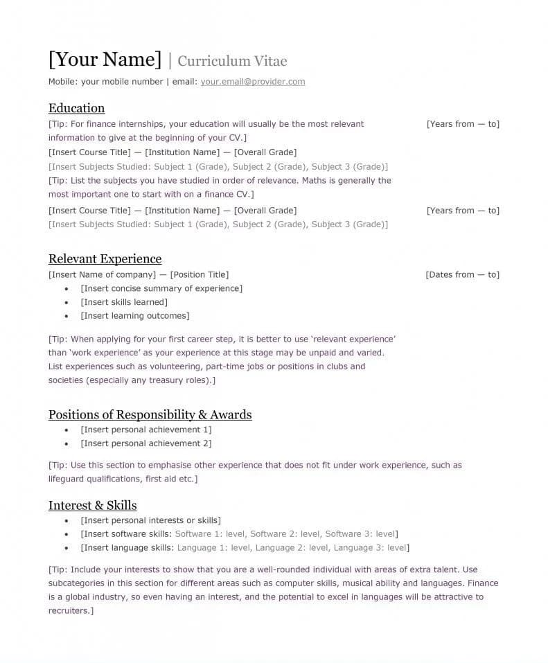 Best Kenyan CV Format And Requirements ▷ Tukoke