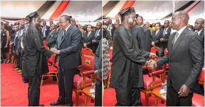 Uhuru, Ruto get scared by pastor's choice of Bible verse during Kamaru's burial Tuko.co.ke