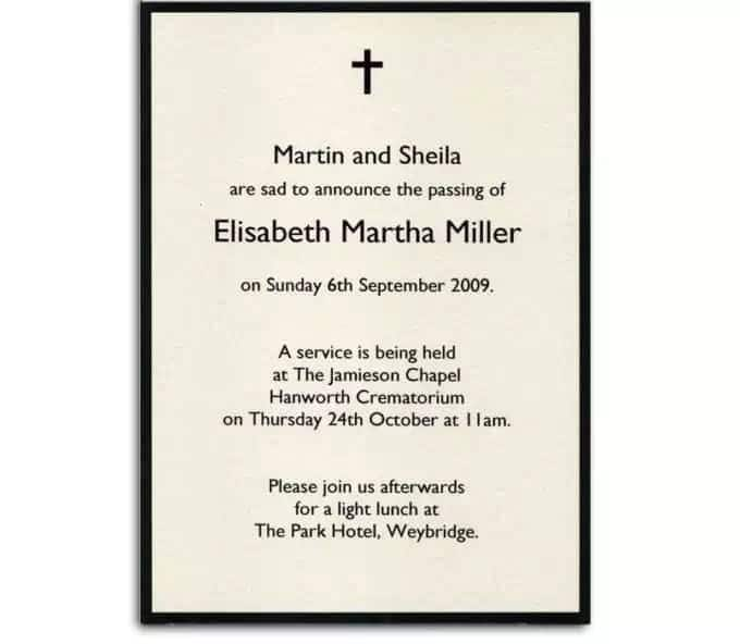 How to write a funeral invitation letter ▷ YENCOMGH