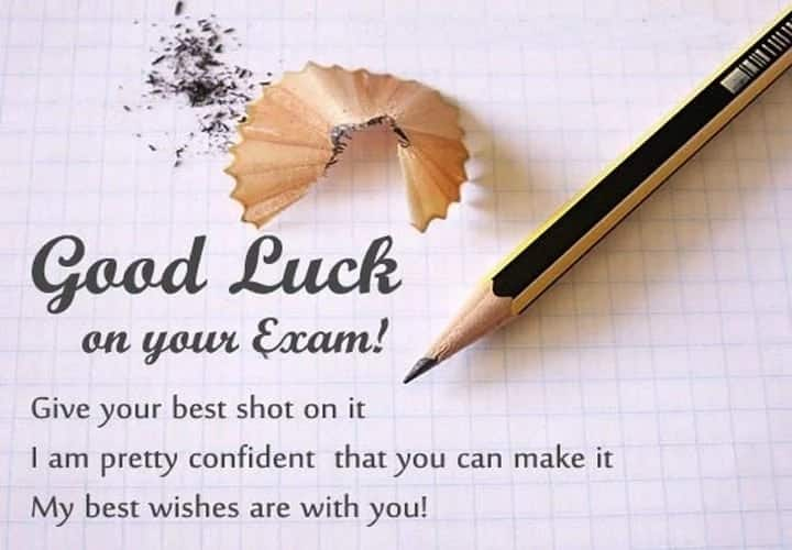 Best Good Luck for Exam  Test Wishes