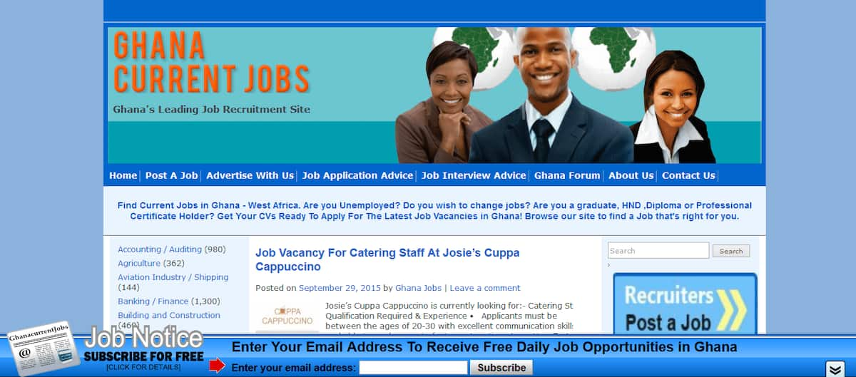 Check out these top websites for your job search in Ghana