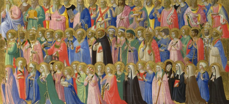 Full title: The Forerunners of Christ with Saints and MartyrsArtist: Fra AngelicoDate made: about 1423-4Source: http://www.nationalgalleryimages.co.uk/Contact: picture.library@nationalgallery.co.ukCopyright © The National Gallery, London