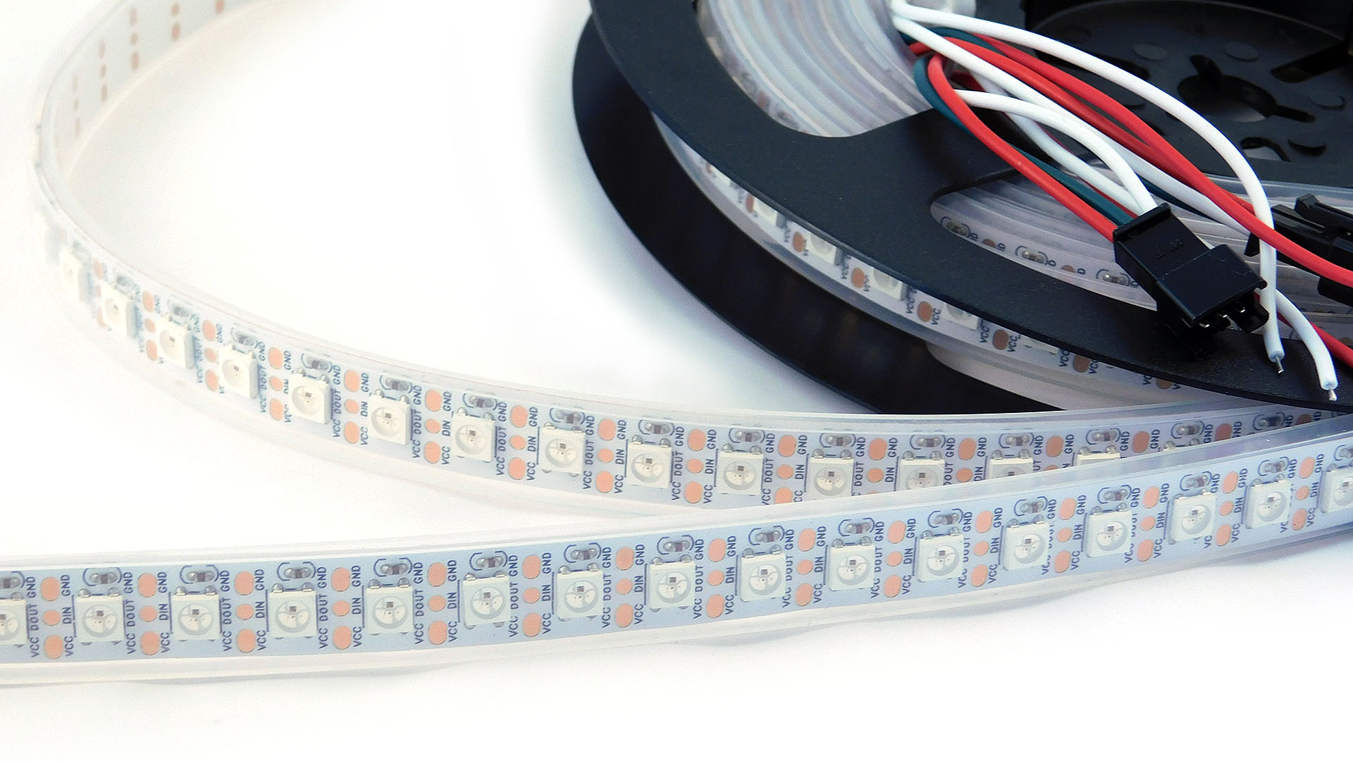 Led Strip Waterproof Nettigo Led Strip Rgb Ws2812b 5v White 96 M Ip67 Waterproof