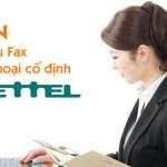 Dịch vụ điện thoại để bàn (Cố định), Fax Viettel