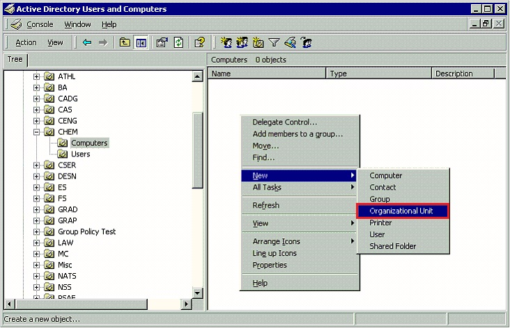 Active Directory Maintaining Organizational Units - GROK Knowledge Base