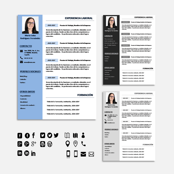 plantilla cv indesign