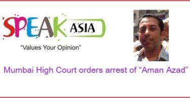 "Mumbai High Court orders arrest of ""Aman Azad"""