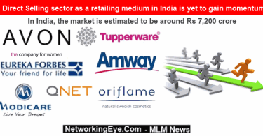 Direct Selling sector as a retailing medium in India is yet to gain momentum
